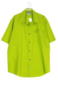 Jack Wolfskin - kariertes kurzarm-hemd mit logo-stickerei - L