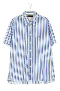 TOMMY HILFIGER - gestreiftes button-down-hemd mit logo-stickerei - XXL