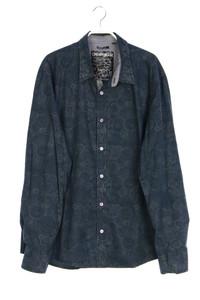 Desigual - muster-hemd mit logo-knöpfen - XL