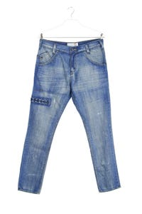 MOOKS - used look boyfriend-jeans  mit applikationen - W32