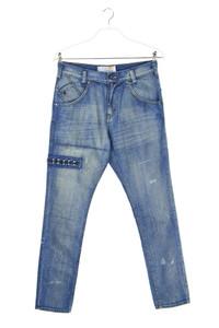 MOOKS - used look boyfriend-jeans mit rüschen - W30