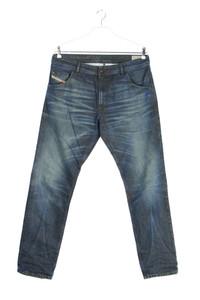 Diesel Industry - used look slim-jeans mit logo-patch - W34