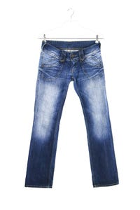 Pepe Jeans London - used look straight cut jeans - W28