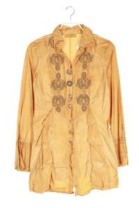 ELISA CAVALETTI CLUB - garment dyed-hemd-bluse mit stickereien - S