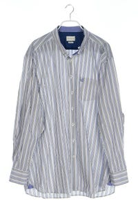 bugatti - streifen-button-down-hemd mit logo-stickerei - XXXL