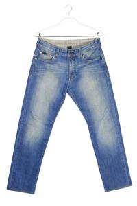 Calvin Klein Jeans - jeans im used look mit logo-badge - W32