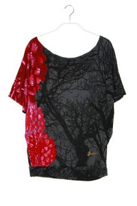 Desigual - batwing-shirt mit logo-stickerei - S