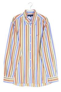 TOMMY HILFIGER - gestreiftes button-down-hemd mit logo-stickerei - L