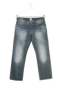 BOSS ORANGE - used look straight cut jeans mit logo-patch - W34