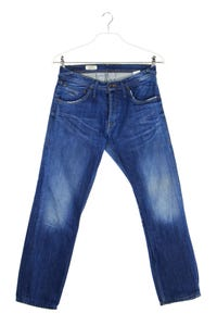 Pepe Jeans London - used look straight cut jeans mit logo-badge - W31