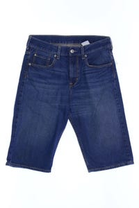 H&M &denim - jeans-shorts mit logo-patch - 158