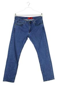 pierre cardin - used look straight cut jeans mit logo-badge - W36