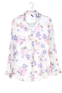 H&M DIVIDED - hemd-bluse mit blumen-print - D 36