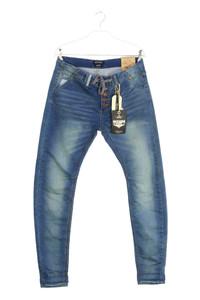 EIGHT2NINE - used look boyfriend-jeans mit tunnelzug - S