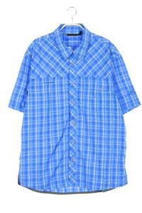 MAMMUT - kariertes kurzarm-hemd mit logo-stickerei - XL