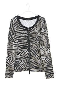 AIRFiELD - zipper-cardigan mit animal-print - D 42
