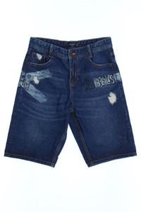 MANGO KIDS - jeans-shorts im used look mit print - 164