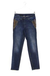 M MADELEINE - dirty destroyed skinny-jeans mit perlen - D 36