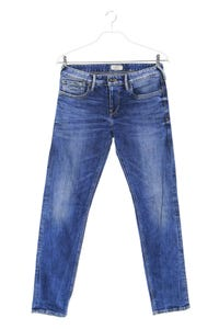 Pepe Jeans London - used look slim-jeans mit logo-patch - W32