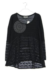 Desigual - strick-pullover mit stickereien - M