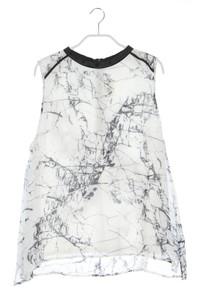 NILE atelier - ärmellose bluse mit print - L