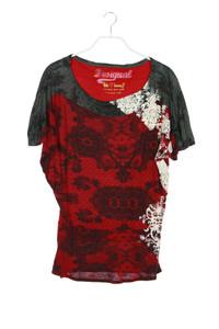 Desigual - batwing-shirt mit floralem muster - S