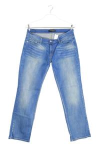 Levi´s - used look straight cut jeans aus baumwoll-mix mit logo-patch - XL