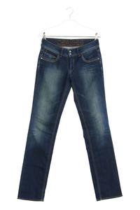 Le temps des Cerises - used look straight cut jeans mit logo-patch - W27
