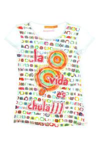 Desigual - print-t-shirt mit pailletten - 146