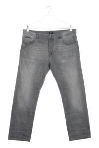 BOSS HUGO BOSS - used look straight cut jeans mit logo-badge - W38