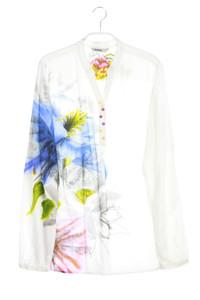 Desigual - bluse mit blumen-print - L
