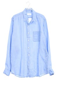 UNIQLO - leinen-hemd in denim-optik - M