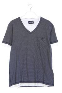 AJ ARMANI JEANS - t-shirt im layer look mit streifen - XXL