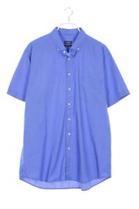 paul kehl - karo-kurzarm-hemd mit button-down-kragen - XL