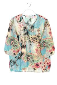 Paola! - kurzarm-bluse mit floralem muster - D 42