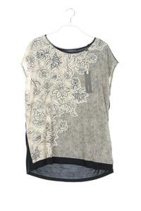 ESPRIT - kurzarm-shirt mit floralem muster - L