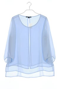 comma - chiffon-bluse im layer look - D 38