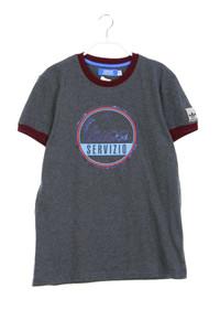 adidas - t-shirt mit logo-patch - M