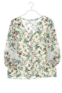 sweewë PARIS - bluse mit spitze - M