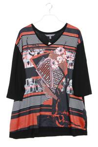 Ulla Popken - 3/4-arm-shirt mit print - D 46-48