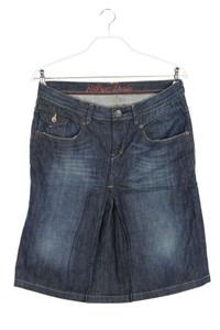 Hilfiger Denim - jeans-rock im used look mit falten - L