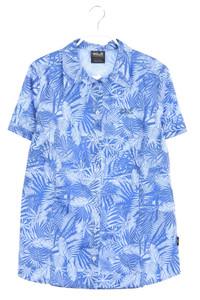 Jack Wolfskin - kurzarm-bluse mit tropical print - M