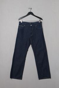 BOSS HUGO BOSS - leichte Dark Denim-Jeans mit Logo-Patch - L