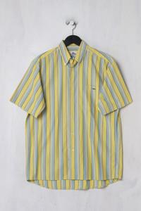 LACOSTE - Streifen-Kurzarm-Hemd mit Logo-Stickerei aus Baumwolle - M