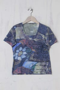 NILE - T-Shirt mit floralem Muster - M