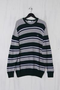 LACOSTE - Schurwoll-Pullover mit Streifen - XXXL