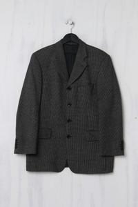strellson - Schurwoll-Jacke mit Karo-Muster - S