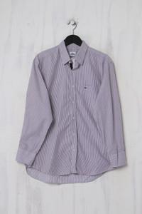 LACOSTE - Casual-Hemd mit Streifen aus Baumwolle - L